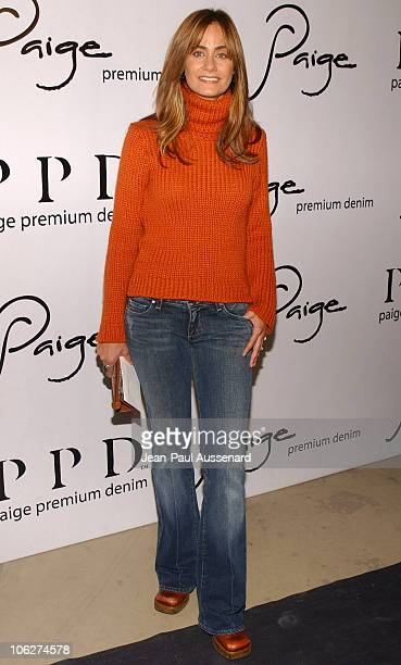 Diane Farr during Paige Premium Denim Party Arrivals at Paige Premium Denim Flagship store in Los Angeles California United States
