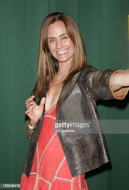 Diane Farr promotes 'Kissing Outside the Lines' at Barnes Noble Tribeca on July 6 2011 in New York City