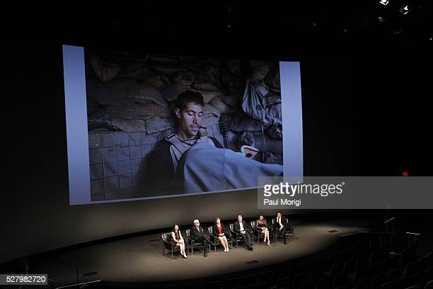 Diane Foley and John Foley of the James W Foley Legacy Foundation Rachel Briggs of Hostage US David Rohde of Reuters producer Eva Lipman and Brian...