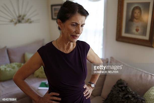 Diane Foley mother of James Foley pauses for a moment during an interview at her home August 24 in Rochester New Hampshire A memorial service will be...