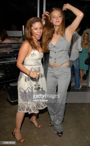 Diane Gaeta and Bijou Phillips during DDCLAB LA Boutique Opening June 6 2006 in Los Angeles California United States