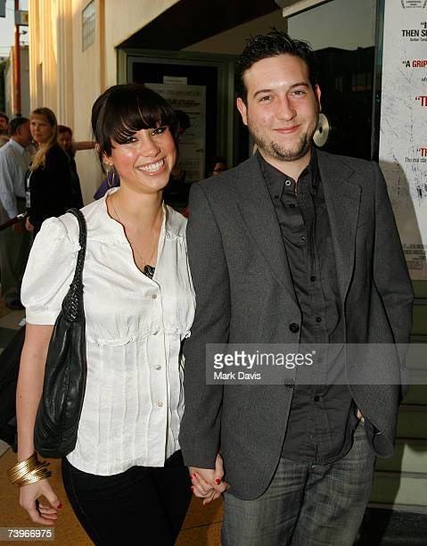 Diane Gaeta and Christopher Marquette arrive at the screening of Stephanie Daley held at the Regent Showcase Theater on April 24 2007 in Hollywood...