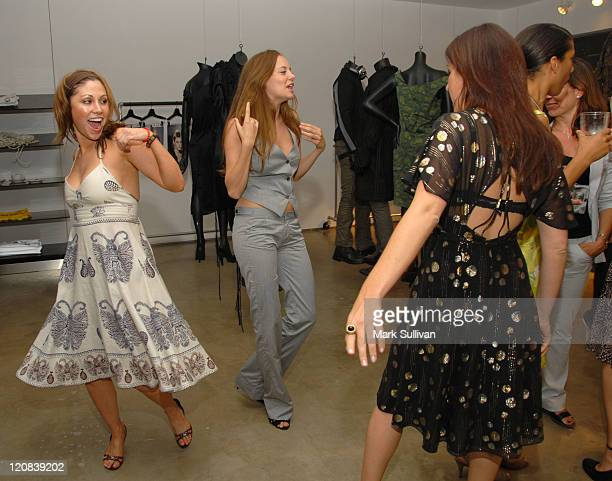 Diane Gaeta Bijou Phillips and Jessica Meisels during DDCLAB LA Boutique Opening June 6 2006 in Los Angeles California United States