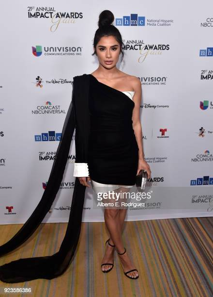 Diane Guerrero attends the 21st annual NHMC Impact Awards Gala at Regent Beverly Wilshire Hotel on February 23 2018 in Beverly Hills California
