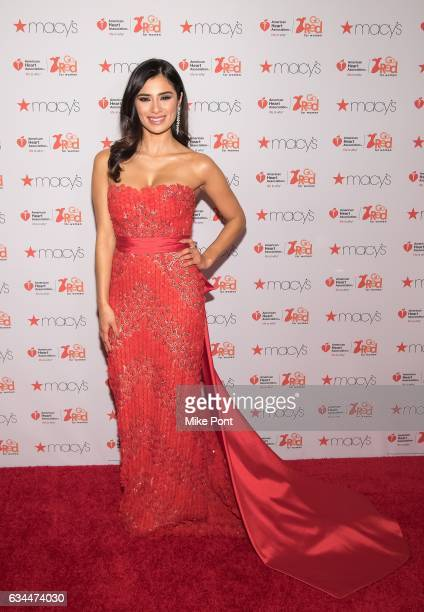 Diane Guerrero attends the American Heart Association's Go Red for Women Red Dress Collection 2017 during New York Fashion Week at Hammerstein...