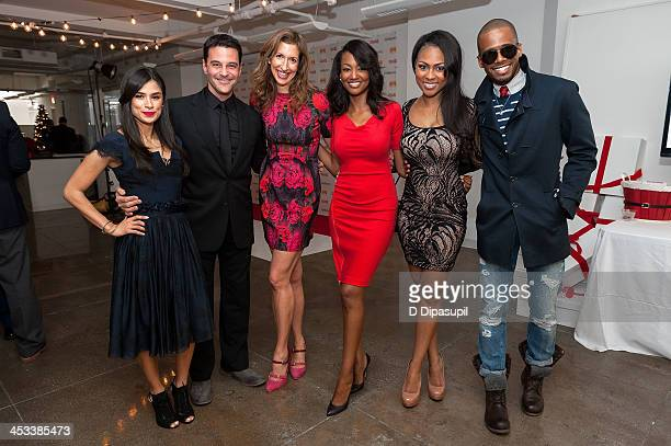 Diane Guerrero David Alan Basche Alysia Reiner Nichole Galicia Tashiana Washington and Eric West attend the HH Brown Shoe Company Season Of Giving...