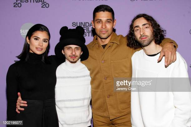 Diane Guerrero Moisés Arias Wilmer Valderrama and Mateo Arias attends the 2020 Sundance Film Festival Blast Beat Premiere at The Ray on January 26...
