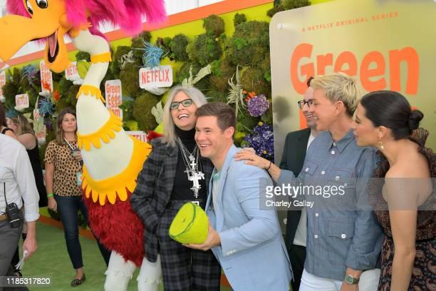 Diane Keaton, Adam DeVine, Jared Stern Ellen DeGeneres, and Ilana Glazer attend Netflix 'Green Eggs & Ham' Los Angeles Premiere at Post 43 on...