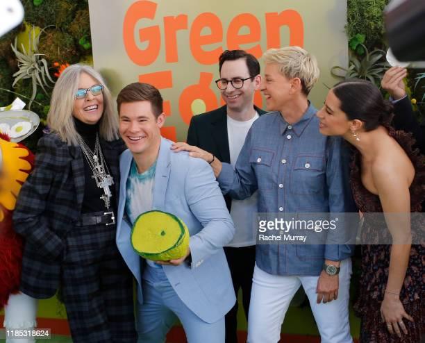 Diane Keaton, Adam DeVine, Jared Stern, Ellen DeGeneres, and Ilana Glazer attend Netflix 'Green Eggs & Ham' Los Angeles Premiere at Post 43 on...