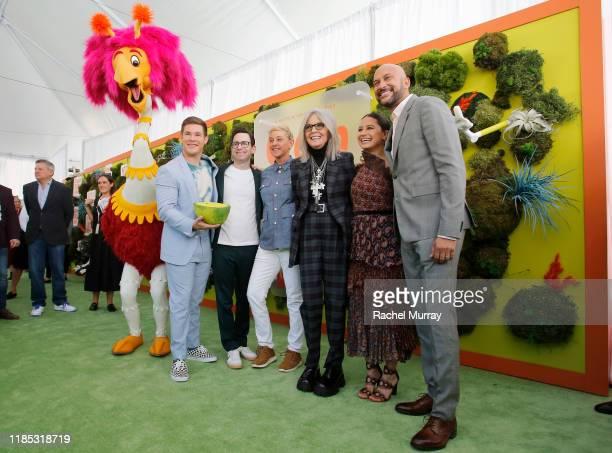 Diane Keaton, Adam DeVine, Jared Stern, Ellen DeGeneres, Ilana Glazer, and Keegan-Michael Key attend Netflix 'Green Eggs & Ham' Los Angeles Premiere...