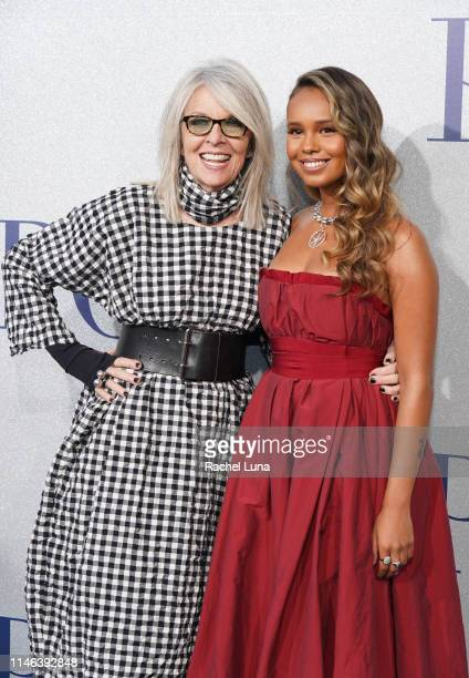 Diane Keaton and Alisha Boe attend the premiere of STX's Poms at Regal LA Live on May 1 2019 in Los Angeles California