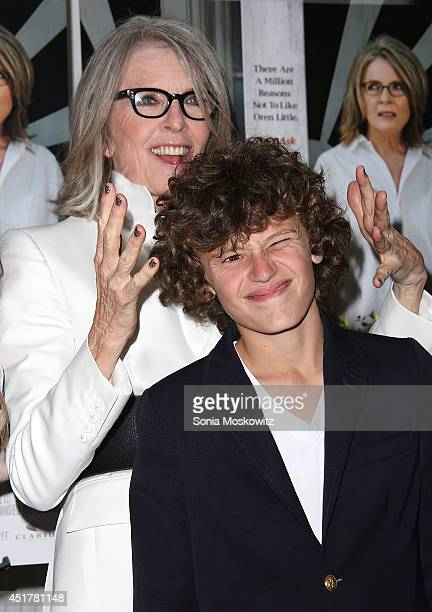 Diane Keaton and her son Duke Keaton attend the And So It Goes premiere at Guild Hall on July 6 2014 in East Hampton New York