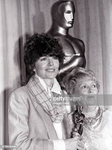 Diane Keaton and Janet Gaynor at the Academy Awards circa 1978 in Los Angeles