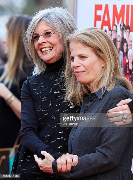 Diane Keaton and Jessie Nelson attend the premiere of CBS Films 'Love The Coopers' at the Park Plaza on November 12 2015 in Los Angeles California