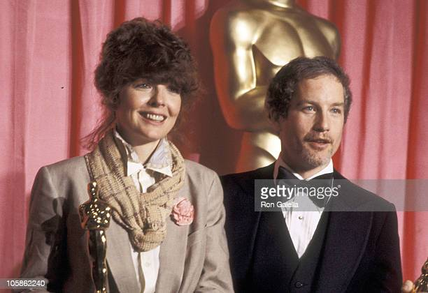Diane Keaton and Richard Dreyfuss during 50th Annual Academy Awards at Dorothy Chandler Pavillion in Los Angeles California United States