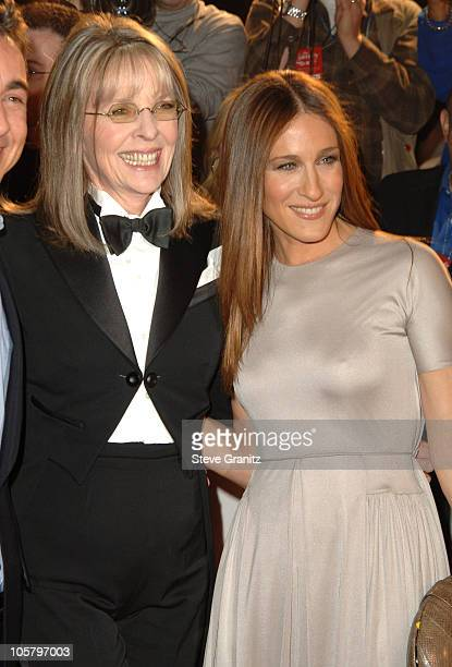 Diane Keaton and Sarah Jessica Parker during The Family Stone Los Angeles Premiere Arrivals at Mann Village Theater in Westwood California United...