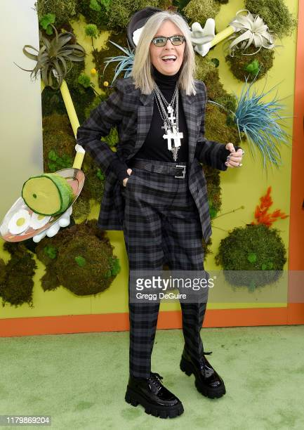 Diane Keaton arrives at the Premiere Of Netflix's Green Eggs And Ham at Hollywood American Legion on November 3 2019 in Los Angeles California