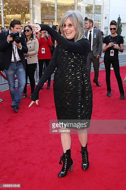 Diane Keaton attends the Love The Coopers Holiday Luncheon Benefiting The LA Regional Food Bank at The Grove on November 12 2015 in Los Angeles...