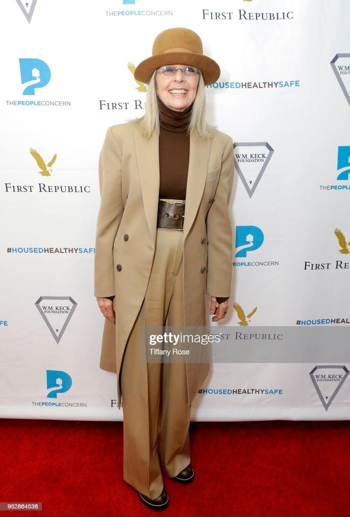 Diane Keaton attends The People Concern's Celebrating Change Gala at Casa Vertigo on April 29, 2018 in Los Angeles, California.