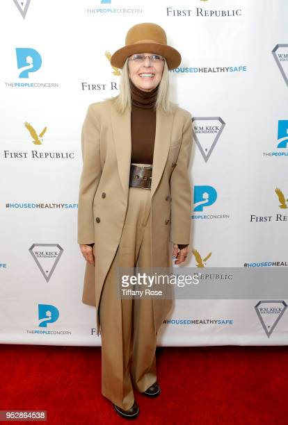 Diane Keaton attends The People Concern's Celebrating Change Gala at Casa Vertigo on April 29 2018 in Los Angeles California