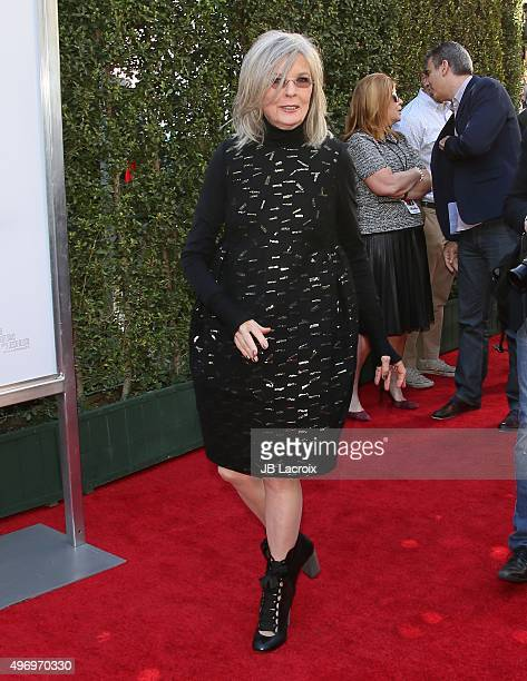 Diane Keaton attends the premiere of CBS Films 'Love The Coopers' at the Park Plaza on November 12 2015 in Los Angeles California