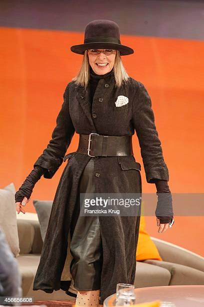 Diane Keaton attends Wetten dass from Erfurt on October 04 2014 in Erfurt Germany