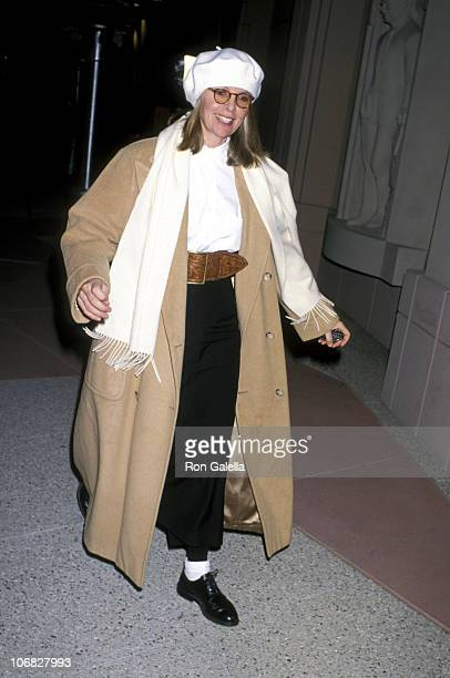 Diane Keaton during Fallen Champ The Untold Story of Mike Tyson Los Angeles Screening January 2 1992 at Academy Theater in Hollywood California...