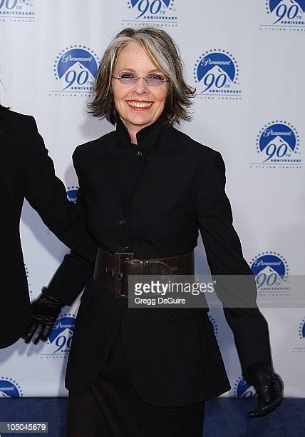 Diane Keaton during Paramount Pictures Celebrates 90th Anniversary With 90 Stars for 90 Years at Paramount Pictures in Los Angeles California United...