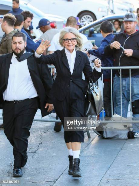Diane Keaton is seen at 'Jimmy Kimmel Live' on June 12 2017 in Los Angeles California