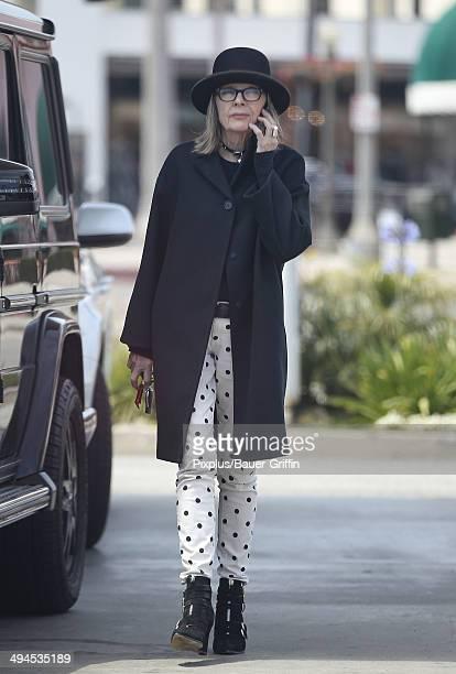 Diane Keaton is seen on May 29 2014 in Los Angeles California