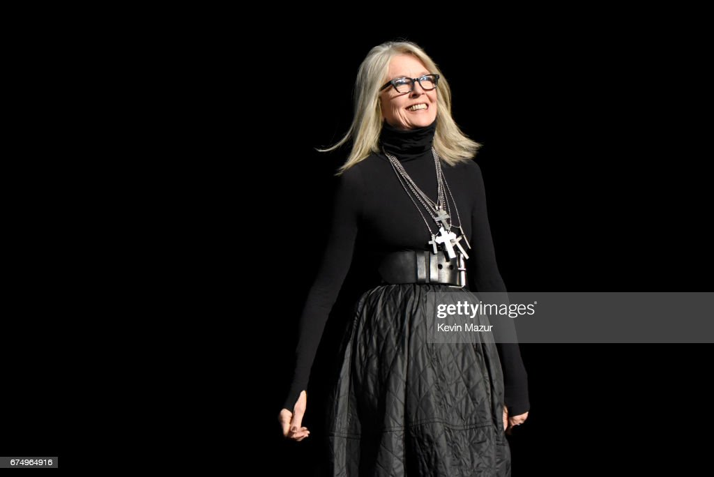 Diane Keaton onstage during the panel for 'The Godfather' 45th Anniversary Screening during 2017 Tribeca Film Festival closing night at Radio City Music Hall on April 29, 2017 in New York City.