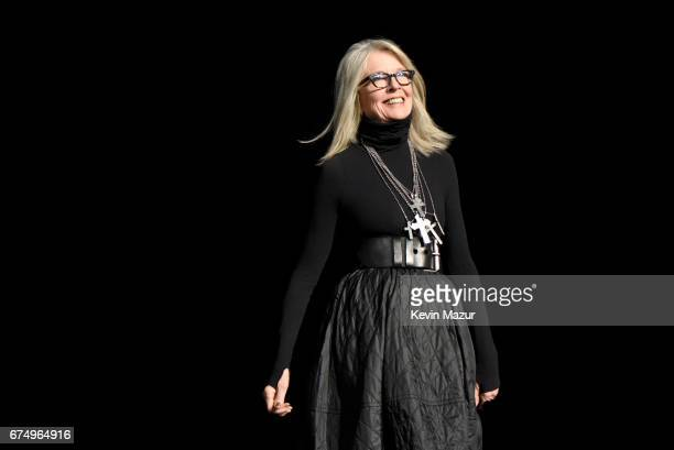 Diane Keaton onstage during the panel for The Godfather 45th Anniversary Screening during 2017 Tribeca Film Festival closing night at Radio City...