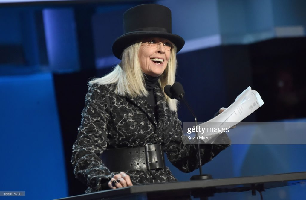 Diane Keaton speaks onstage during the American Film Institute's 46th Life Achievement Award Gala Tribute to George Clooney at Dolby Theatre on June 7, 2018 in Hollywood, California. 288523