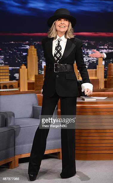 Diane Keaton visits The Tonight Show Starring Jimmy Fallon at Rockefeller Center on April 29 2014 in New York City