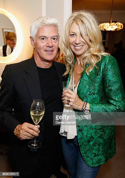 Diane Kordas and John Frieda attend Vogue Voice of a Century launch at Matches Fashion on September 20 2016 in London England