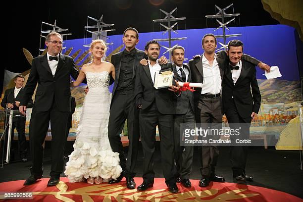 Diane Kruger alongside the cast of 'Indigenes' Roschdy Zem Jamel Debbouze director Rachid Bouchareb Sami Bouajila and Bernard Bancan that received...