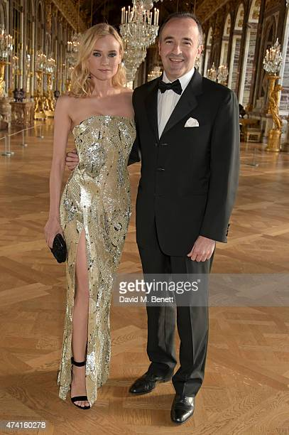 Diane Kruger Ambassador of Martell Cognac's Tricentenaire and Philippe Guettat Martell CEO are pictured during a spectacular evening honouring the...