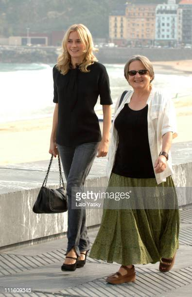 "Diane Kruger and Agniezka Holland, director during 2006 San Sebastian International Film Festival - ""Copying Beethoven"" Press Conference and..."