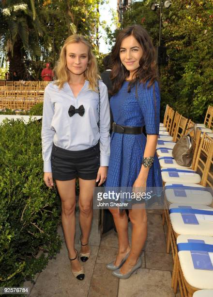 LOS ANGELES CA OCTOBER 30 Diane Kruger and Camilla Belle attend the CFDA/Vogue Fashion Fund Event at Chateau Marmont on October 30 2009 in West...