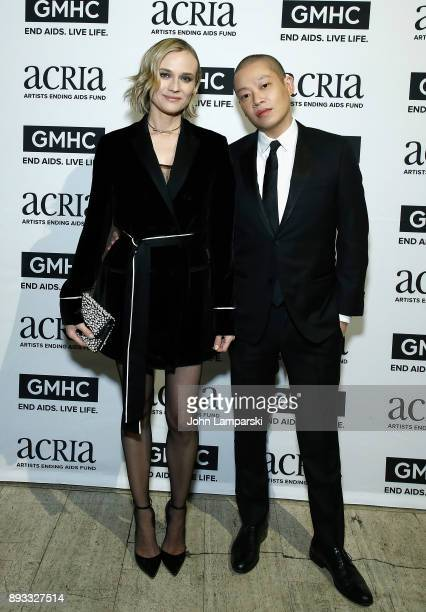 Diane Kruger and designer Jason Wu attend ACRIA's 22nd annual holiday dinner at Cipriani 25 Broadway on December 14 2017 in New York City