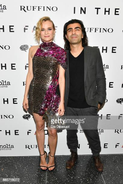 Diane Kruger and director Fatih Akin attend the 'In the Fade' New York Premiere at the Museum of Modern Art on December 4 2017 in New York City