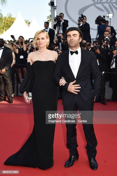 Diane Kruger and director Fatih Akin of the 'In The Fade ' attend the Closing Ceremony during the 70th annual Cannes Film Festival at Palais des...