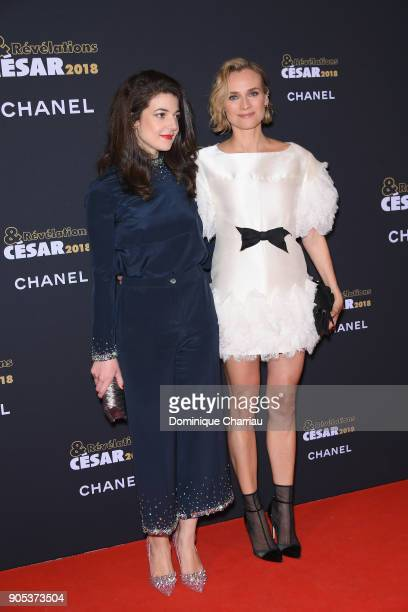 Diane Kruger and Esther Garrel attend the 'Cesar Revelations 2018' Party at Le Petit Palais on January 15 2018 in Paris France