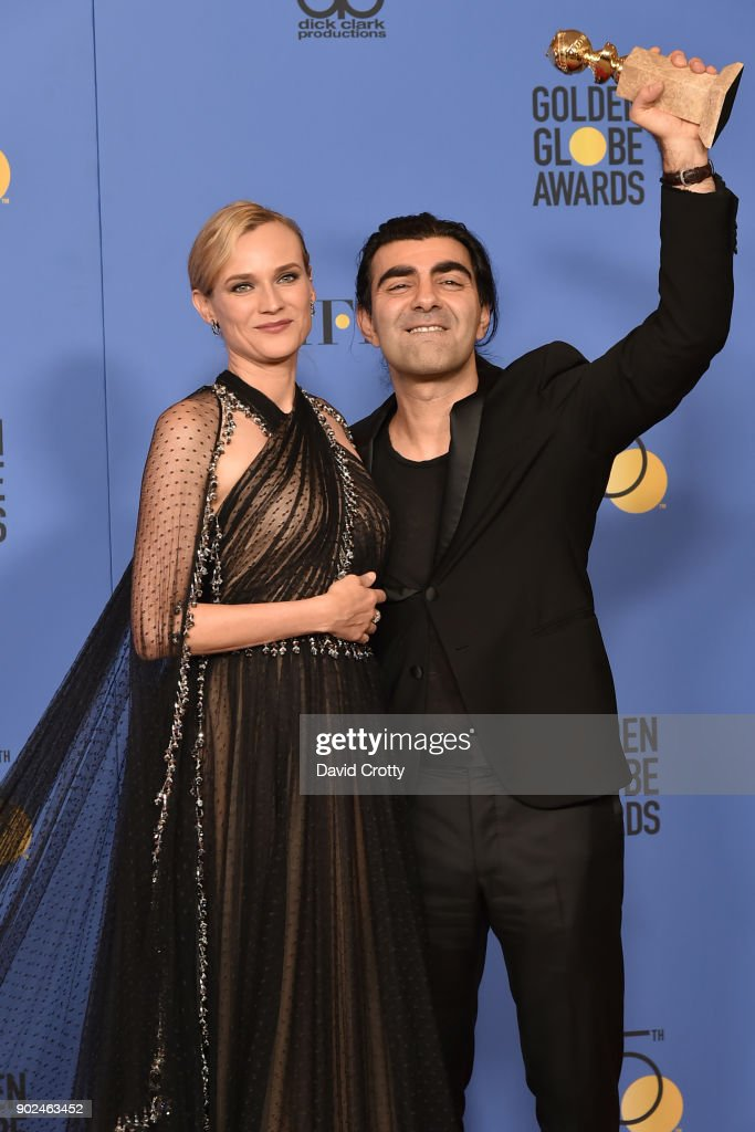 Diane Kruger and Fatih Akin attend the 75th Annual Golden Globe Awards - Press Room at The Beverly Hilton Hotel on January 7, 2018 in Beverly Hills, California.