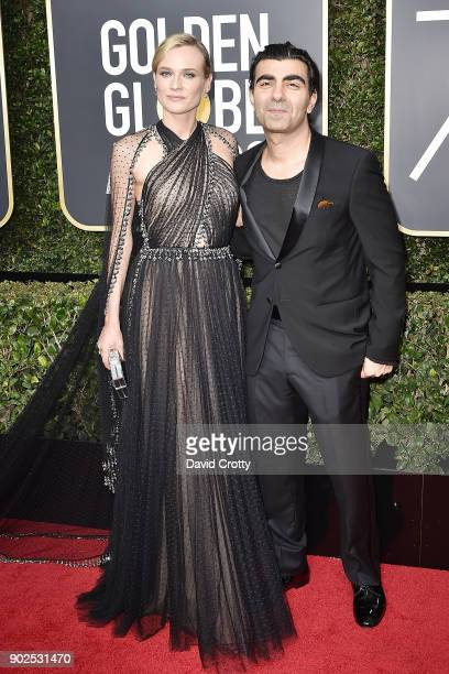 Diane Kruger and Fatih Akin attend the 75th Annual Golden Globe Awards Arrivals at The Beverly Hilton Hotel on January 7 2018 in Beverly Hills...