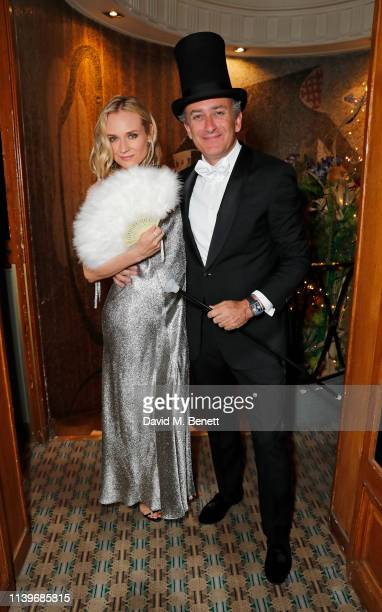 Diane Kruger and Formula E CEO Alejandro Agag celebrate a successful 2019 ABB FIA Formula E Paris EPrix with an intimate 'Moulin Rouge' inspired...