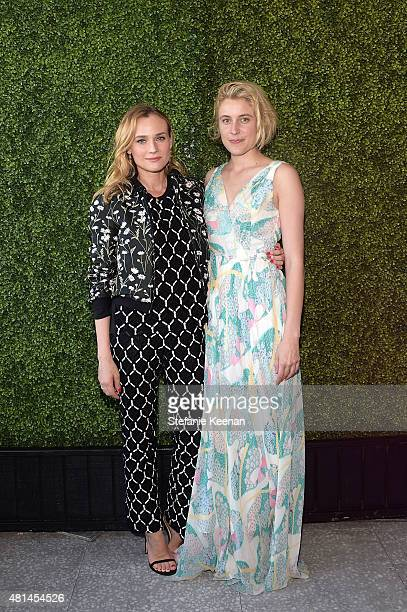 Diane Kruger and Greta Gerwig attend an intimate cocktail benefitting Women In Film hosted by Barneys New York and United Talent Agency at Fred's at...
