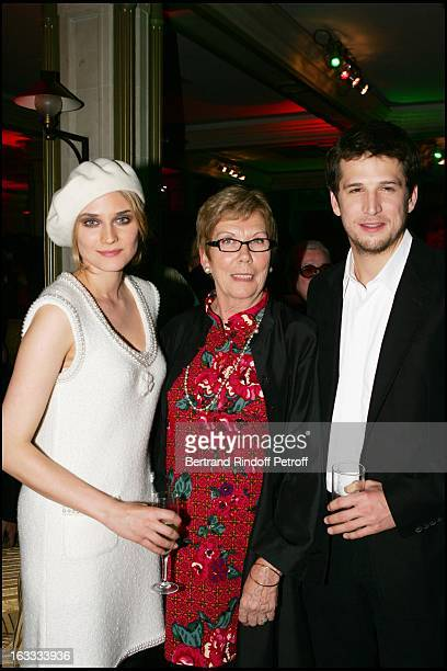 Diane Kruger and Guillaume Canet and mother at the Paris Premiere Of Joyeux Noel At L'Ugc Normandie Du Film