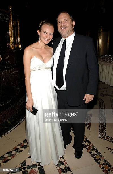 Diane Kruger and Harvey Weinstein during 2006 New Yorkers For Children Fall Gala at Cipriani in New York City New York United States
