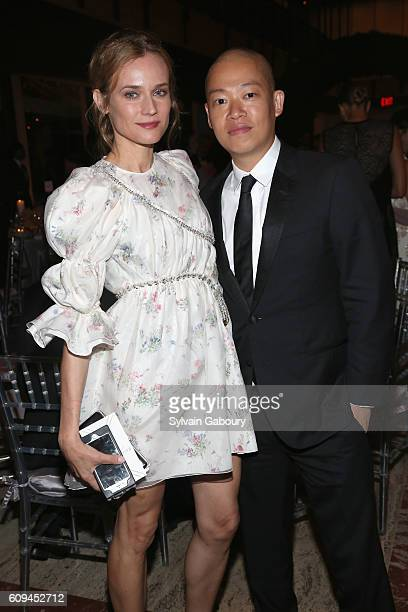 Diane Kruger and Jason Wu attend New York City Ballet 2016 Fall Fashion Gala at David H Koch Theater Lincoln Center on September 20 2016 in New York...